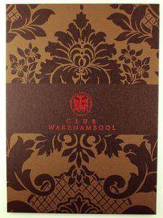 Strip Pockets | A4 - Single Panel - Bronze Buckram - Screen Printing - Metallic Red Foil Debossing