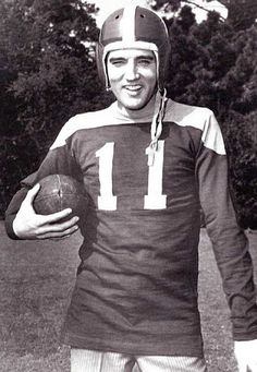 """""""Next to entertainment & music, football is the thing I enjoy best. Elvis Presley The King of Rock and Roll Rock N Roll, Are You Lonesome Tonight, Elvis Presley Family, Burning Love, Famous Musicians, Famous Movies, Famous Faces, Cinema, Memphis Tennessee"""