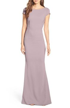 Katie May Plunge Knot Back Gown available at #Nordstrom I chose to focus on the open back dresses the week. When I was looking on vogue I saw a really elegant deep plunging open V back. The design was then replicated into todays fashion from this dress I found while looking at apparel from Nordstrom.