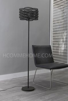 Lampadaire noir design FRANCESCA