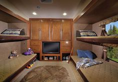 2015 Forest River Sierra 365SAQB Bunk Room. Love this style an design