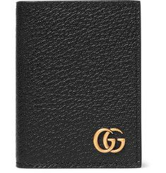 Gucci - Pebble-Grain Leather Bifold Cardholder