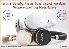 Family Set of Puro Sound Headphones $420 arv #SafeandSound