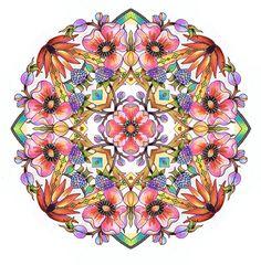 Jardin fleurs Coloring BOOK pour les adultes par emerlyearts
