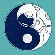 Interesting Illustrations Questioning the Place of Technology and Space in Our Lives - Nursery Ideas Arte Yin Yang, Ying Y Yang, Yin Yang Art, Space Drawings, Art Drawings, Space Wallpaper, Art Hippie, Tatto Design, Space Illustration