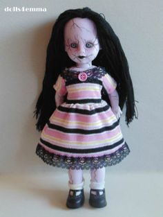 Candy Land Baby-Doll DRESS handmade for LIVING DEAD DOLLS on ebay: $18.00 LE of 2 by dolls4emma
