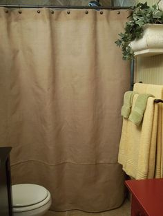 Burlap shower curtains on pinterest shower curtains curtains and