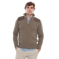 Barbour® Olive Weymouth Quarter-Zip Sweater