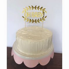 Oh Baby baby shwer Cake Topper by TheLittlePopShop on Etsy