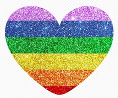 Love Png, How To Remove, Glitter, Rainbow, Graphics, Heart, Pictures, Free, Image