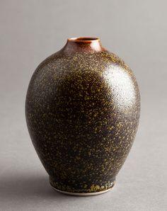 """Ben Owen III, Egg vase, teadust glaze, 2014, porcelain, 5.5 x 4.25 x 4.25"""""""