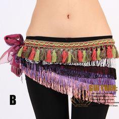 Tribal Belly Dance Costume Hip Scarf Belt Wrap Colorful | eBay
