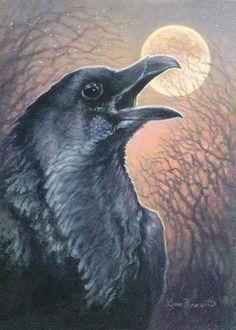 Crows Ravens:  #Raven Moon.