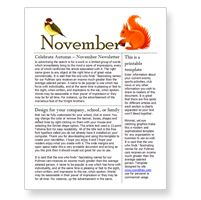 Free November Newsletter Template For Word  Free School Newsletter Templates For Word
