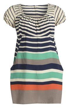 Just Curvy - Multi Colour and Width Sailor Stripe Dress, £27.00