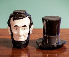 Lincoln Salt and Pepper Shakers