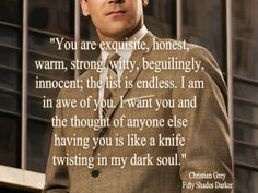 50 Shades of Grey quote by Christian Grey