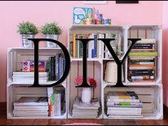 DIY: Tutorial come creare una libreria fai da te con le cassette della frutta - YouTube