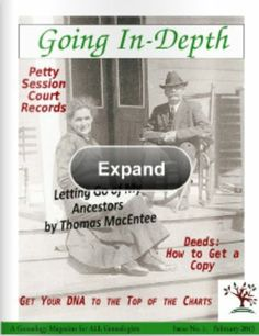 "Announcing ""Going In-Depth,"" a Free Digital Genealogy Online Magazine"