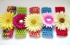 Crocheted Headband  for Girls Choose Your Own Yarn and by UnexpectedTreasure
