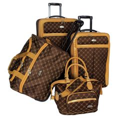 Looking for American Flyer Luggage Signature 4 Piece Set, Chocolate Gold, One Size ? Check out our picks for the American Flyer Luggage Signature 4 Piece Set, Chocolate Gold, One Size from the popular stores - all in one. Louis Vuitton Bags, Louis Vuitton Monogram, Fall Handbags, Purses And Handbags, Cheap Handbags, Luxury Handbags, Cute Car Accessories, Fashion Accessories, Travel Accessories