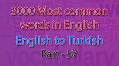 English to Turkish | 2801-2850 Most Common Words in English | Words Star...