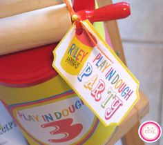 Play Doh Themed 3rd Birthday Party