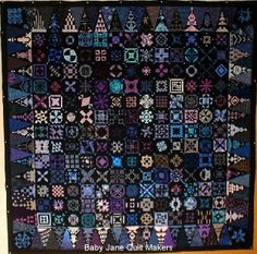Dear Jane quilt by Kirutomama (Japan) seen at Baby Jane Quiltmakers