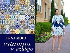 Em alta na moda plus size, a estampa inspirada nos azulejos portugueses traz um ar romântico         e leve para o look. Ela foi destaque nos desfiles de Roberto Cavalli e Valentino, e aporta o inverno 2013 com muito charme!