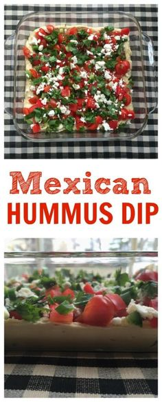 Mexican Layered Hummus Dip is a take on on the traditional party favorite but the base is protein-packed hummus. Topped with colorful, nutritious ingredients, this dip makes a fast snack or flavorful appetizer for any party.