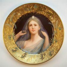 Wagner , Royal Vienna Porcelain (Austria) — Portrait Plate  (839×841)