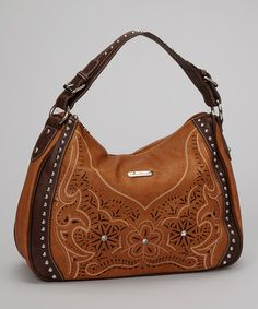 Take a look at this Brown Cutout Western Tote by Montana West on #zulily today!