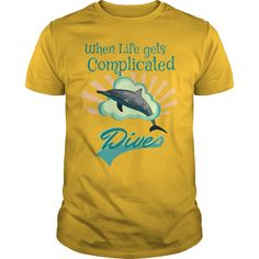 When Life gets Complicated, Dive T-Shirts, Hoodies. GET IT ==► https://www.sunfrog.com/Hobby/When-Life--Complicated-Dive-Yellow-Guys.html?41382