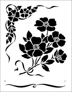 Flower stencils from The Stencil Library. Stencil catalogue quick view page 10.