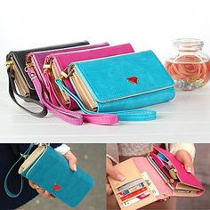 ZL Luxury Cell Phone Wallet Handbag Purse Case with Card Holder for Samsung Galaxy S6/S5/S4/S3 iPhone 5/5S/6/6 Plus , Blue: Amazon.ca: Cell Phones & Accessories