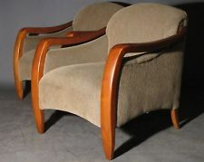 GORGEOUS PAIR VINTAGE DECO LOUNGE BAR ARMCHAIR SEAT BANK CHAIR