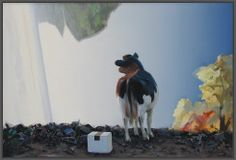 Det forjættede land (The promised land) - Danish artist Poul Anker Bech Promised Land, Cows, Van Gogh, Painters, Danish, Denmark, Illustration, Artist, Inspiration