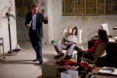 Still of Leonardo DiCaprio, Christopher Nolan and Ellen Page in Inception
