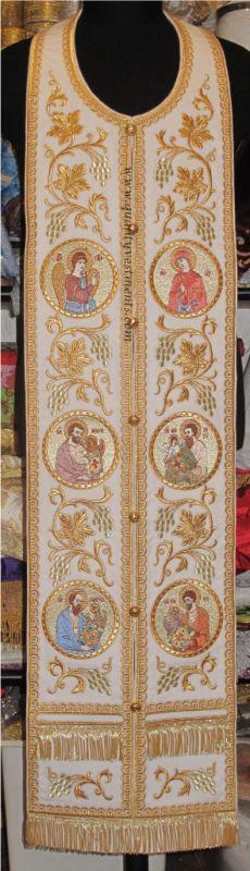 Communion Priest Set Stole Cuffs Orthodox Embroidered