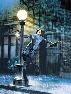 gene kelly......just singing and dancing in the rain....