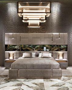 Modern Luxury Bedroom, Luxury Bedroom Design, Bedroom Bed Design, Bedroom Furniture Design, Luxurious Bedrooms, Home Bedroom, Bedroom Decor, Decor Room, Wall Decor