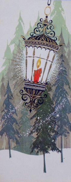 "Color Theory Therapy| Serafini Amelia| ""Holiday Cheer"" Vintage Christmas card"