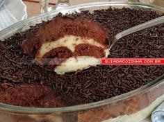 Receita de Pavê de biscoito com brigadeiro | Guia da Cozinha