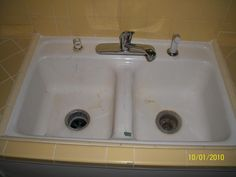 reglaze kitchen sink pkb reglazing kitchen sink amp tile after sink 1821