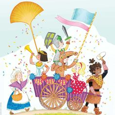 Laure Fournier #celebration #procession #childrensbook #illustration #laurefournier