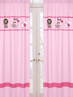 Lovely Jungle Animal Curtains