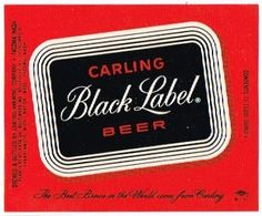 Black Label ( the beer my dad and grandpa drank ) Billard Bar, Beer Types, Old Beer Cans, Beer Poster, Wine And Beer, Beer Brewing, Brewing Company, Cool Logo