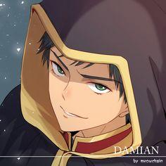 Damian Wayne in anime form by meowchain. Batman Robin, Batman Y Superman, Dc Batgirl, Son Of Batman, Robin Dc, Batman Family, Robin Superhero, Tim Drake, Damian Wayne