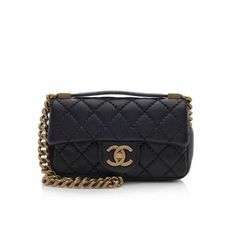 Rental Chanel Quilted Calfskin Urban Day Flap Shoulder Bag ($450) ❤ liked on Polyvore