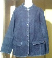 Coldwater Creek Embroidered Shaped Denim Jacket Size 20 NWT (MSRP $109.95!!!)
